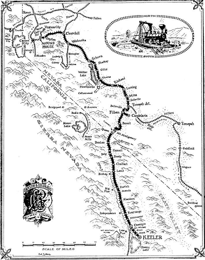railroad map eastern california museum